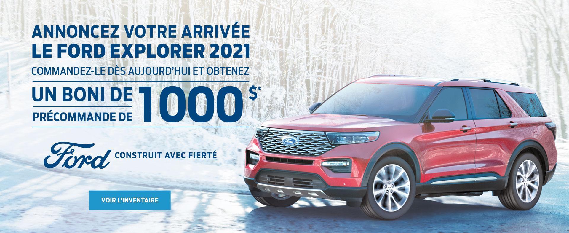ANNONCEZ VOTRE ARRIVEE LE FORD EXPLORER 2021