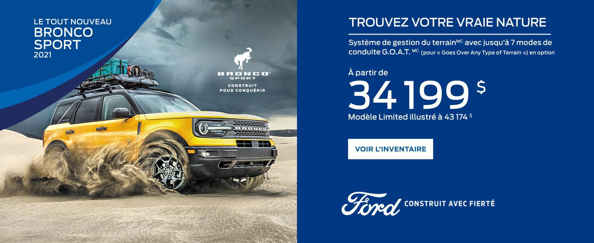 2021 Bronco Sport | Ford of Canada