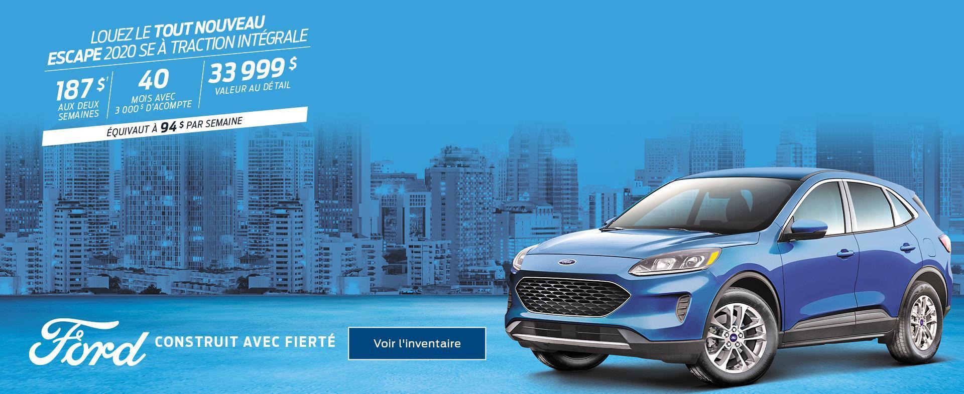 Ford février Escape 2020