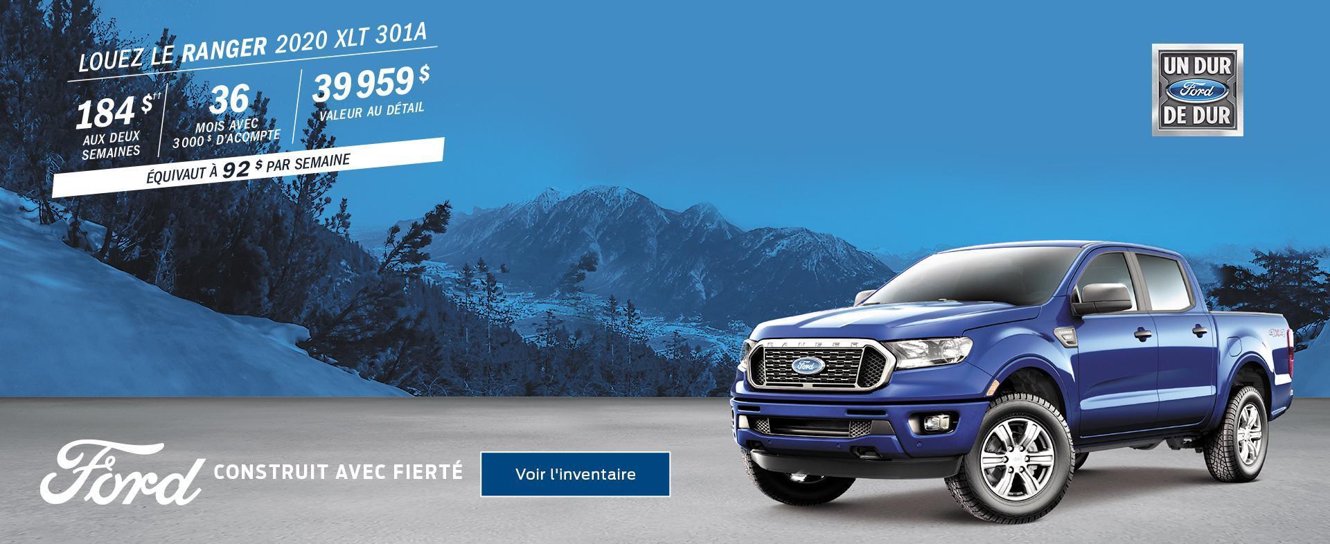 Ford février Ranger 2020