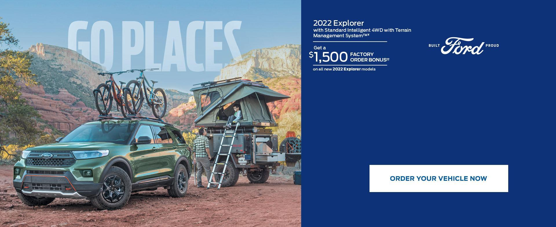 2022 Ford Explorer | Factory Order Bonus | Ford of Canada