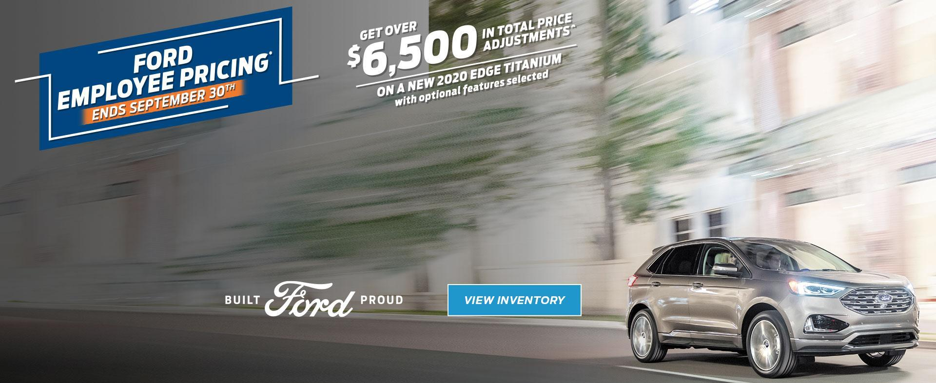 Ford Employee Pricing Final Days | Ford of Canada | 2020 Ford Edge