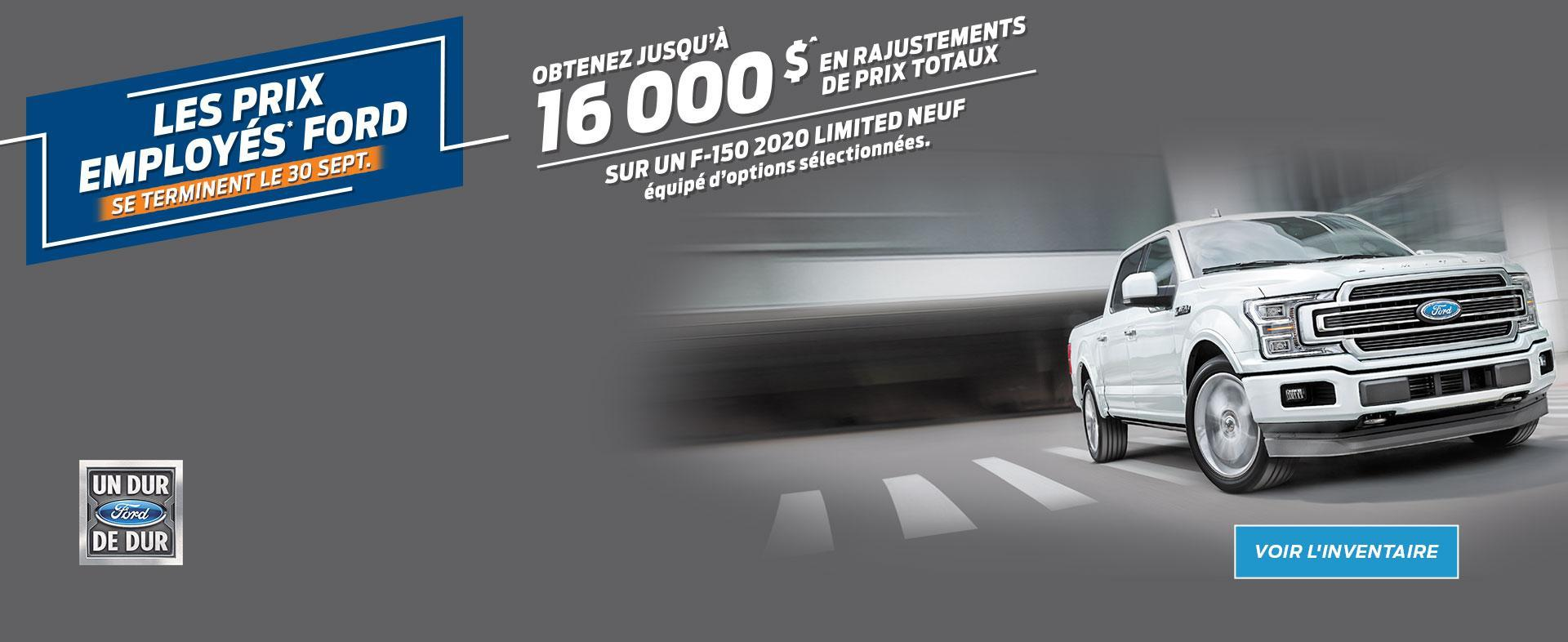 Ford Employee Pricing | 2020 F-150 | Ford of Canada