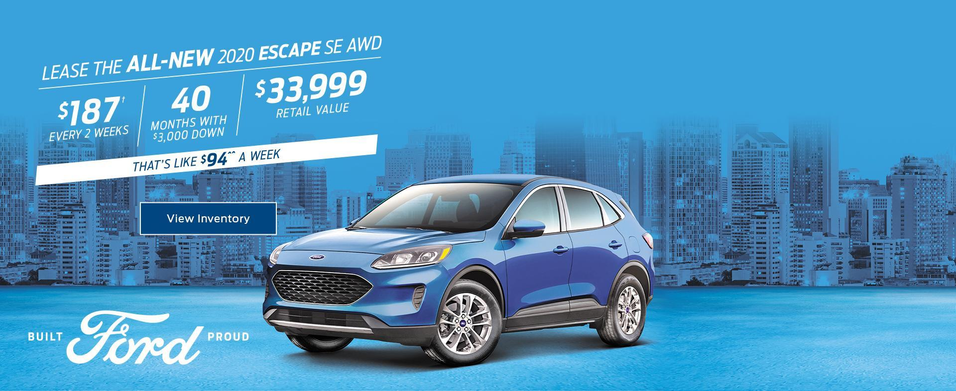 2020 Ford Escape February Lease