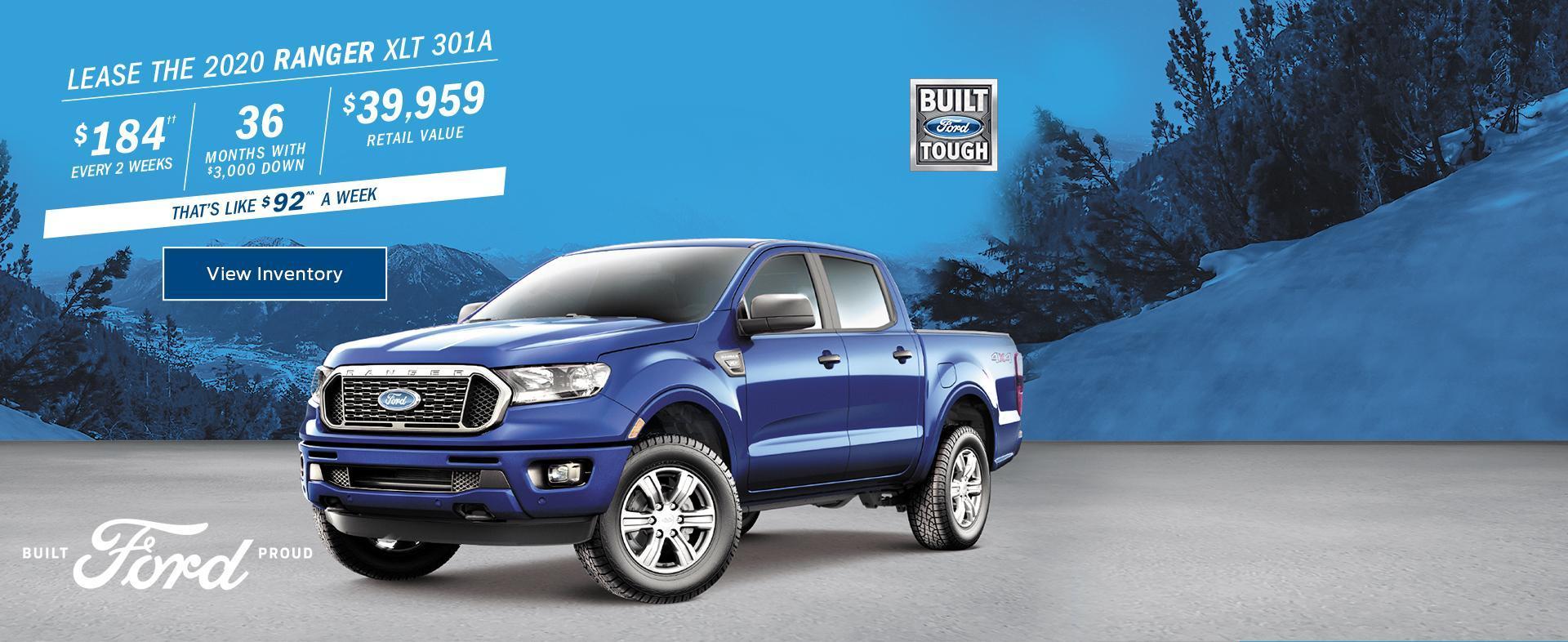 2020 Ford Ranger February Lease