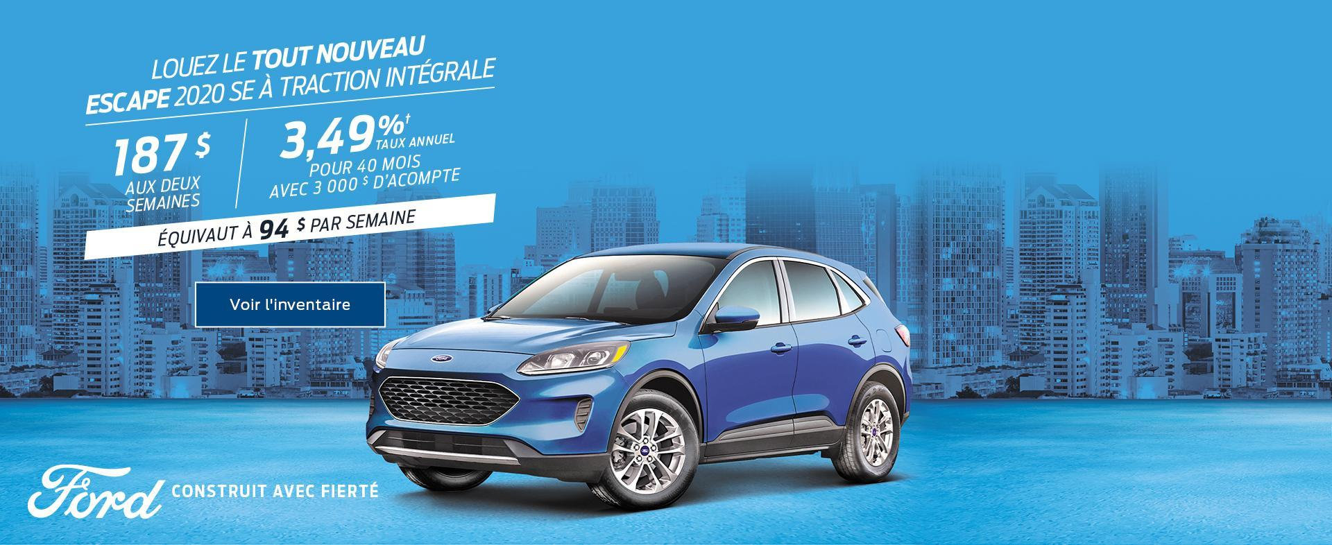 2019 Ford Escape Year End Sales Event