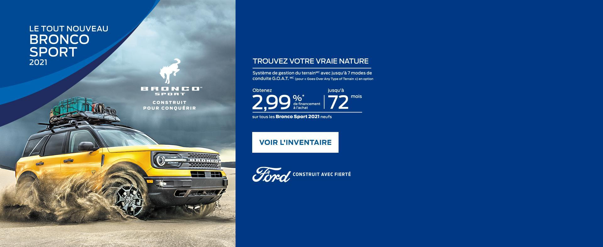 2021 Ford Bronco Sport | Ford of Canada