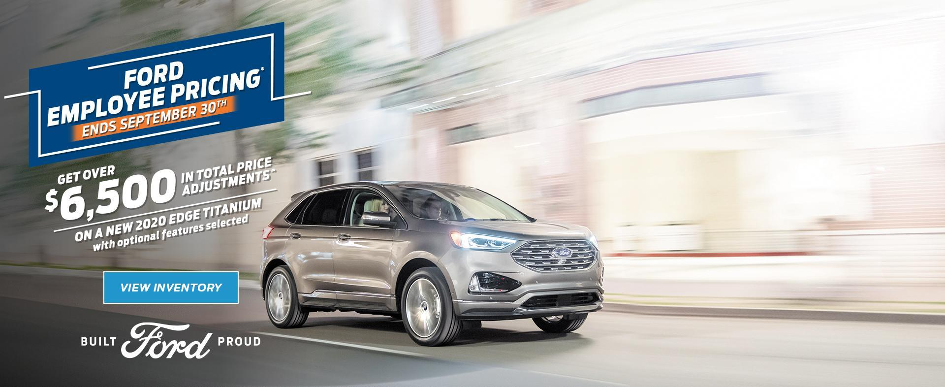 Ford Employee Pricing | Ford of Canada | 2020 Ford Edge