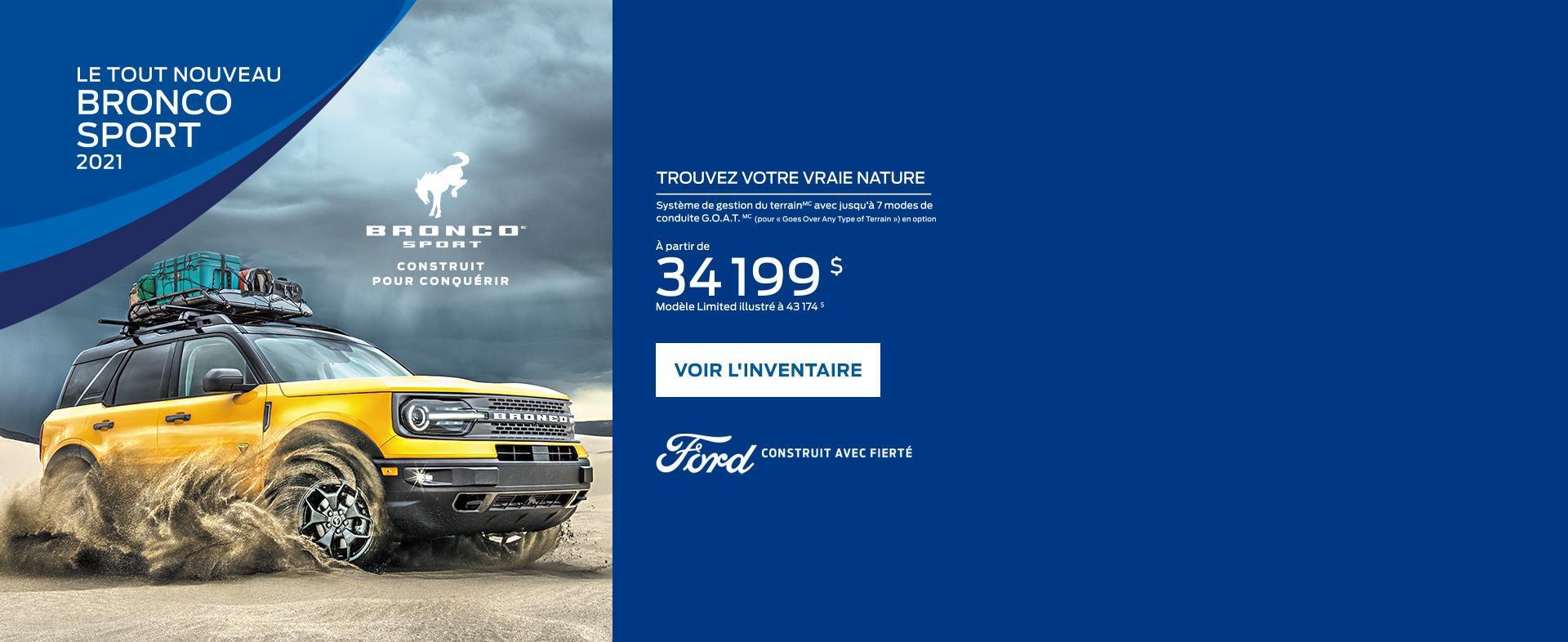 Ford Bronco Sport | Ford du Canada