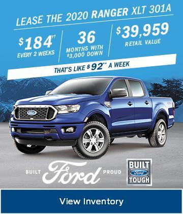 2020 Ford Ranger February Lease