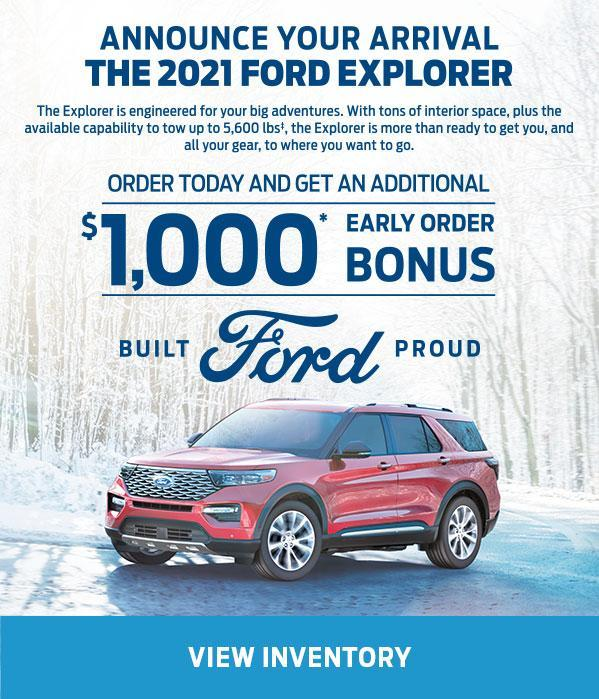 Early Order Bonus | 2021 Ford Exploler | Ford of Canada