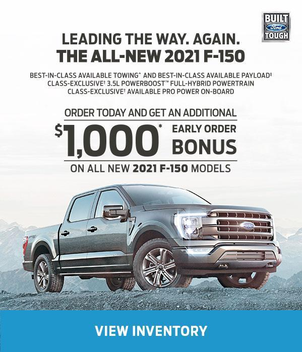 Early Order Bonus | 2021 Ford F-150 | Ford of Canada