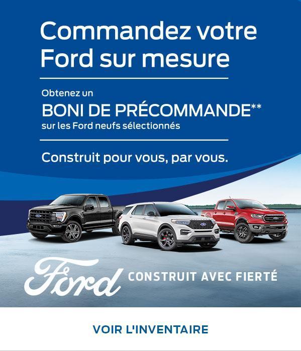 Commandez votre Ford sur mesure | Ford du Canada