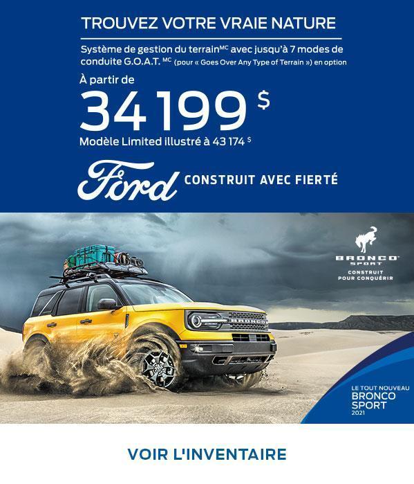 Ford Bronco Sport| Ford du Canada