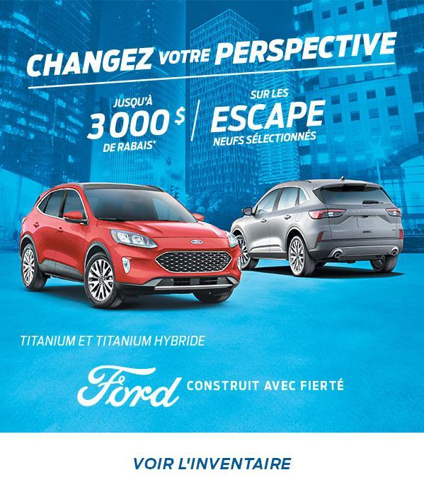 Changez Votre Perspective | Ford Escape | Ford du Canada