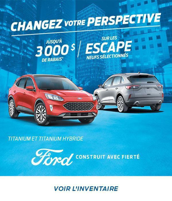 Changez Votre Perspective   Ford Escape   Ford du Canada