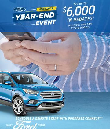 2019 Ford Escape Year End Event