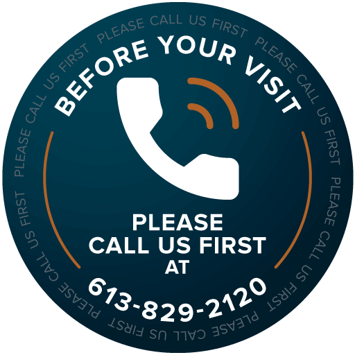 Before you visit, please call us first