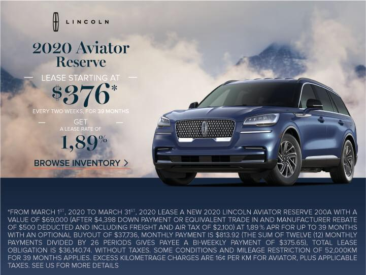 2020 Aviator March 2020 Offer
