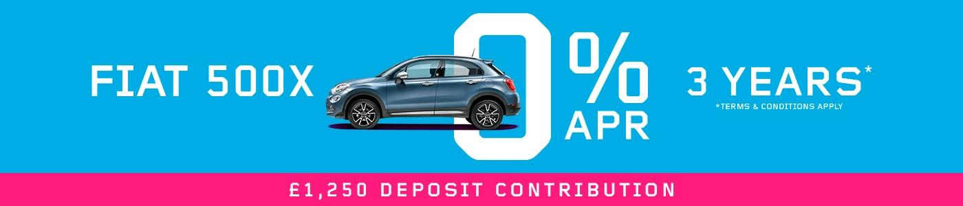 Fiat 500X 3 years 0% offer