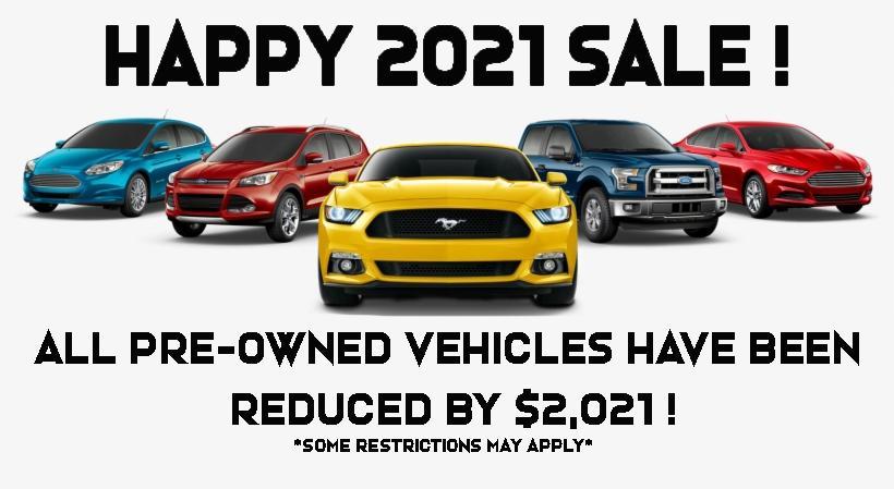 Happy 2021 Used Vehicle Sale