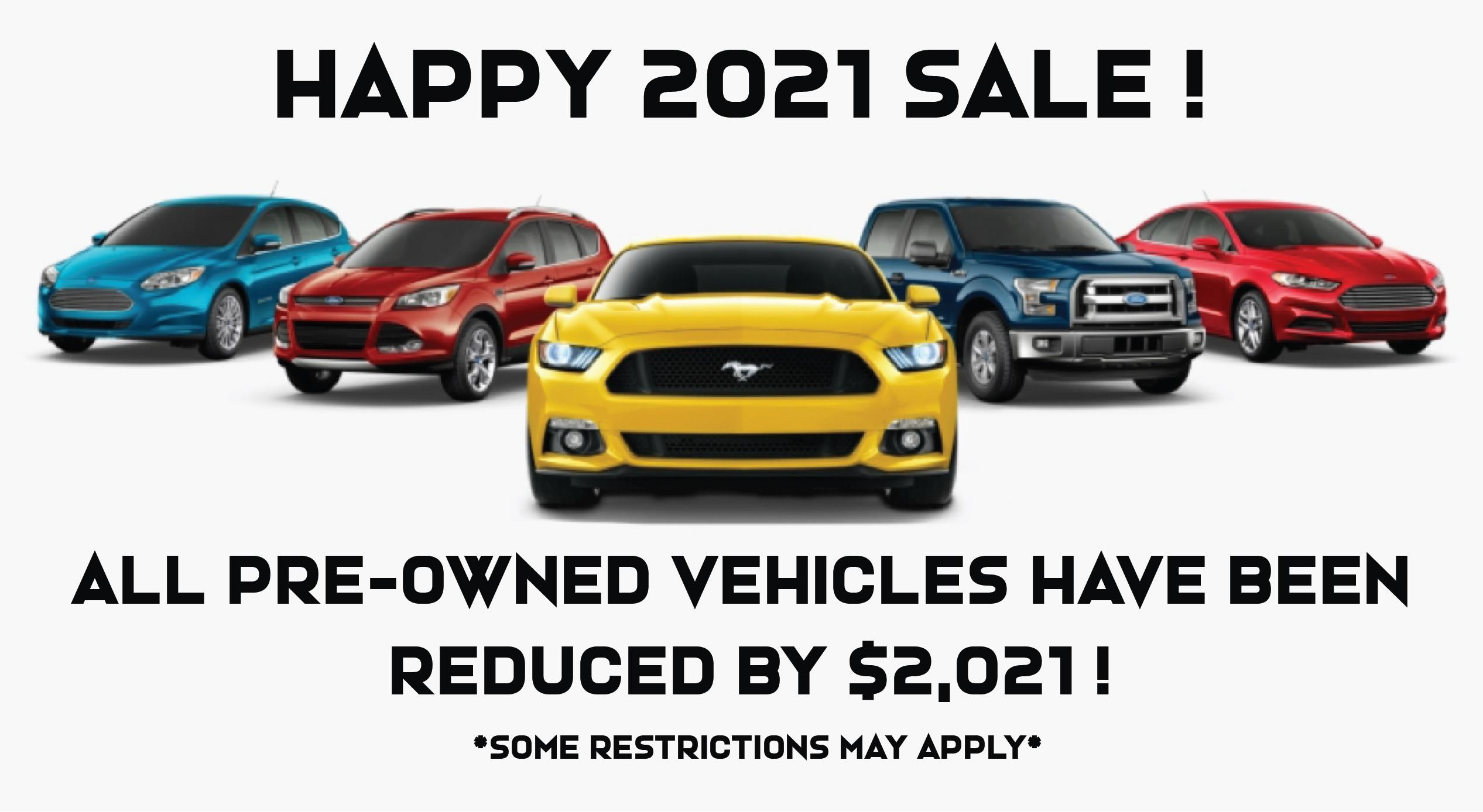Happy 2021 Used Vehicle Sale