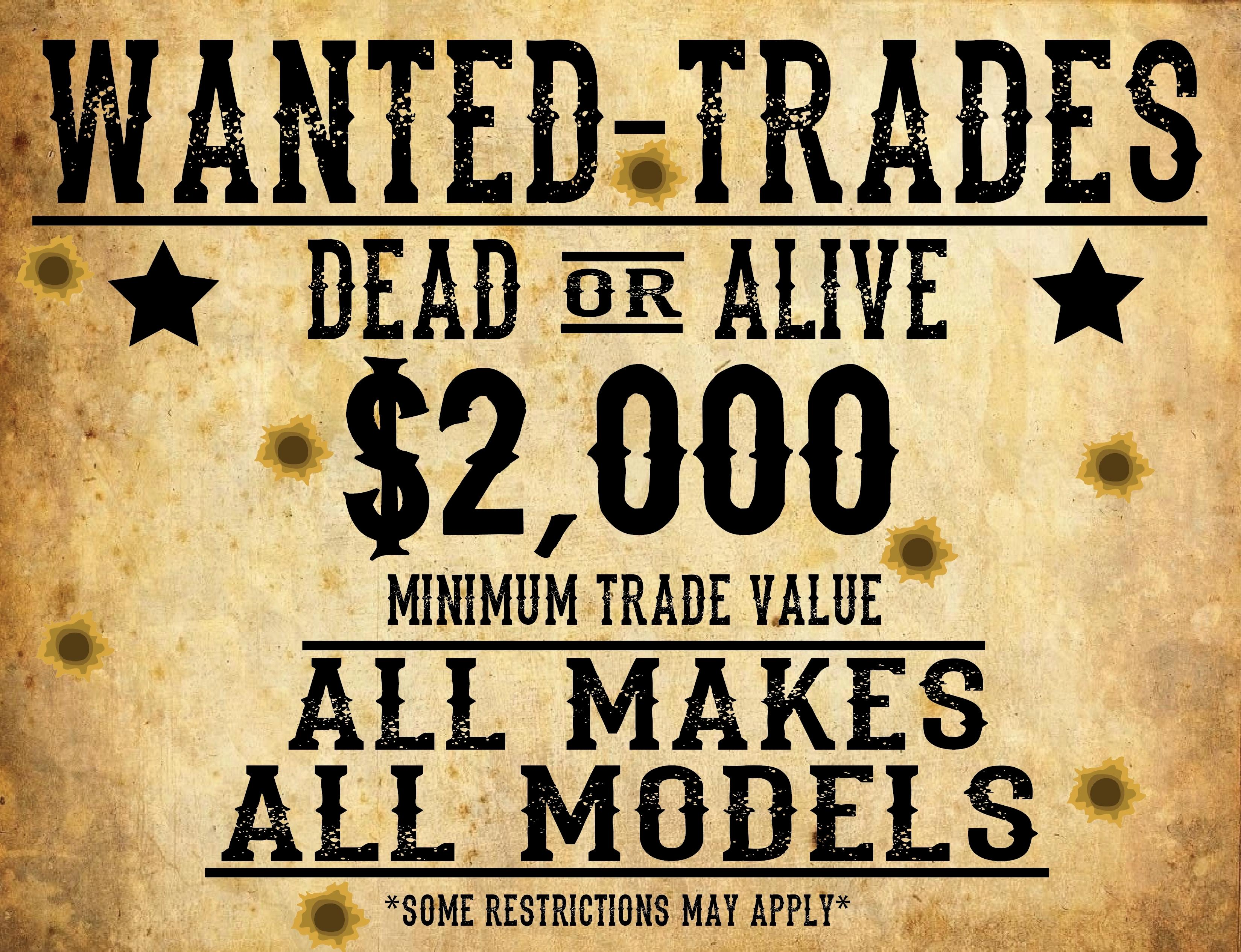 Wanted Used Trades Banner