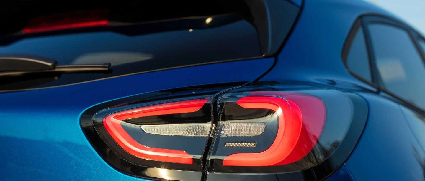 New 2019 Blue Ford Puma tail light