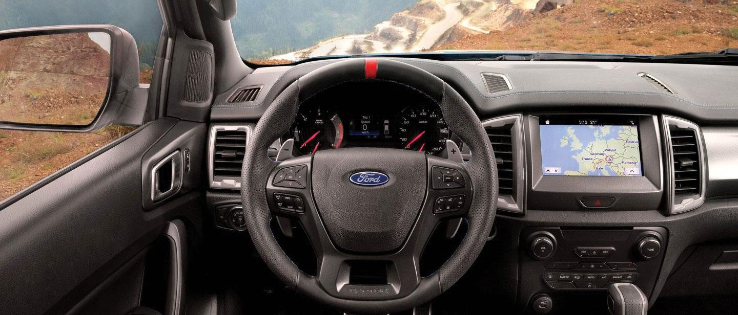 New 2019 Ford Ranger Raptor dashboard