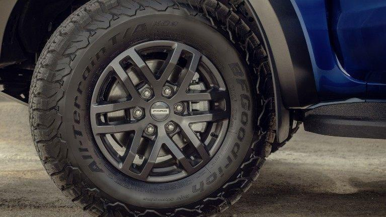 New 2019 Ford Ranger Raptor blue tire wheel