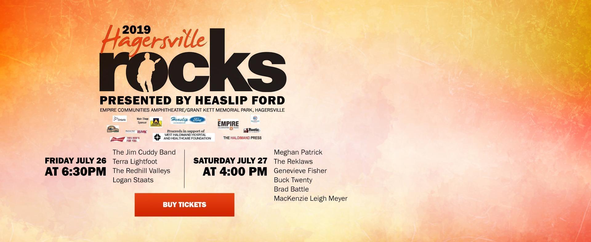 Hagersville Rocks Concert