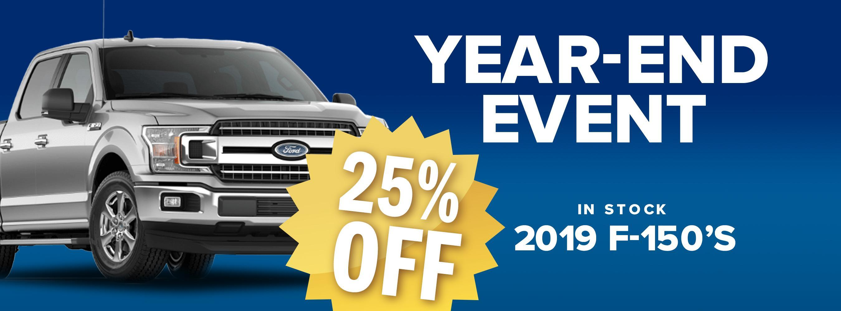 25% Off 2019 Ford F-150's