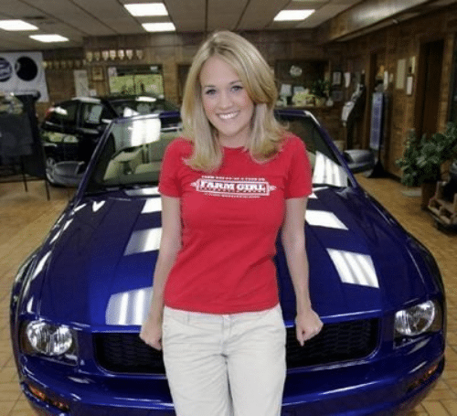 Carrie Underwood Ford Mustang