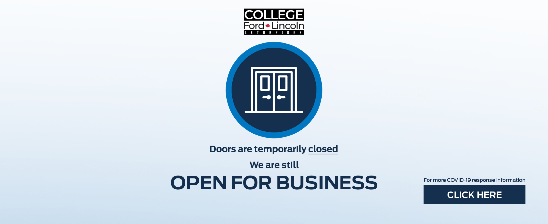 College Ford Lincoln Doors Closed, Business Open