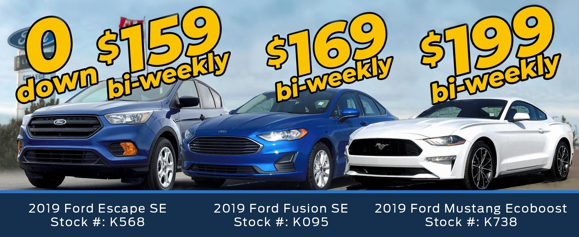 2019 Vehicles Offers