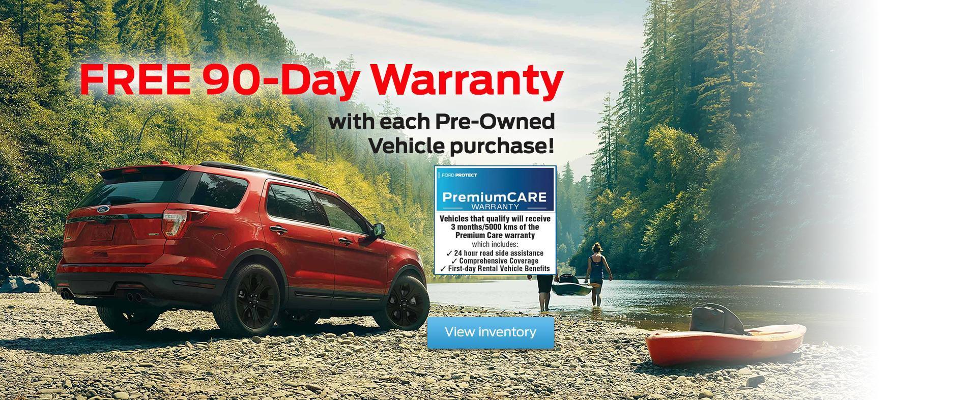 Ford 90 day warranty