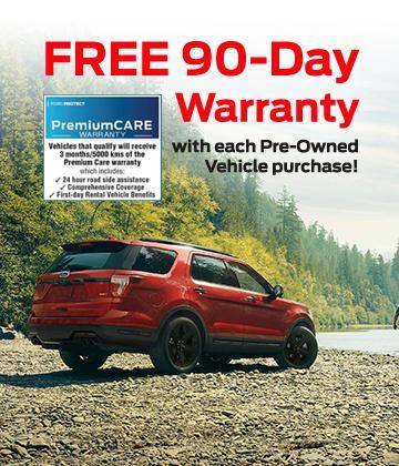 Ford 90 day warranty