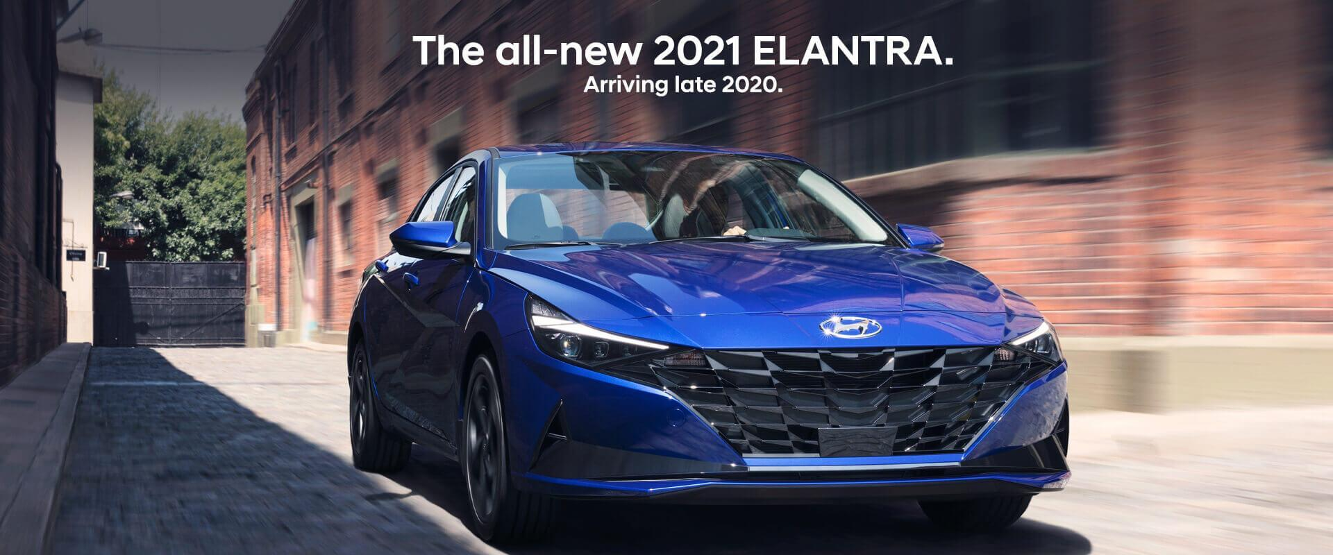 All New 2021 Blue Hyundai Elantra