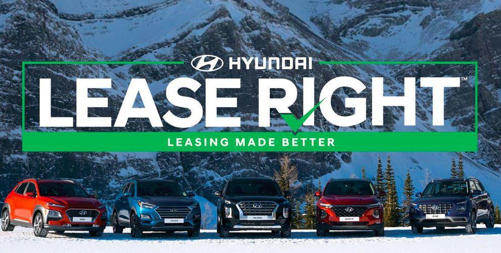 Hyundai LeaseRight lineup in mountains