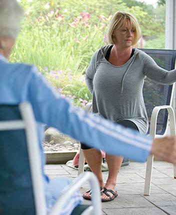 Senior's low-impact aerobics