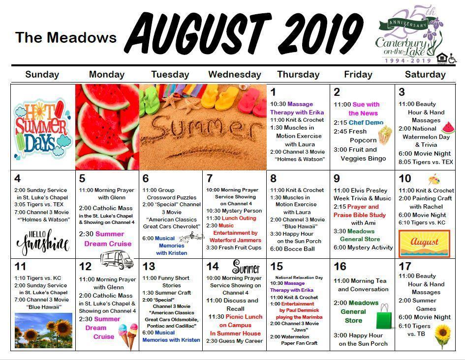 Meadows Calendar
