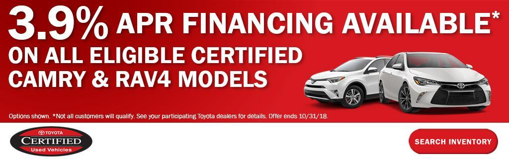 Toyota Certified APR Financing