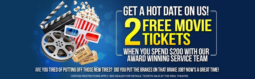 2 Free Movie Tickets Special