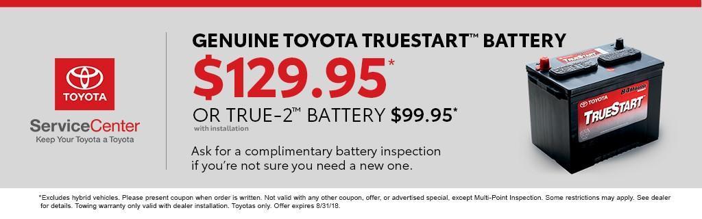 Genuine Toyota TrueStart Battery Special