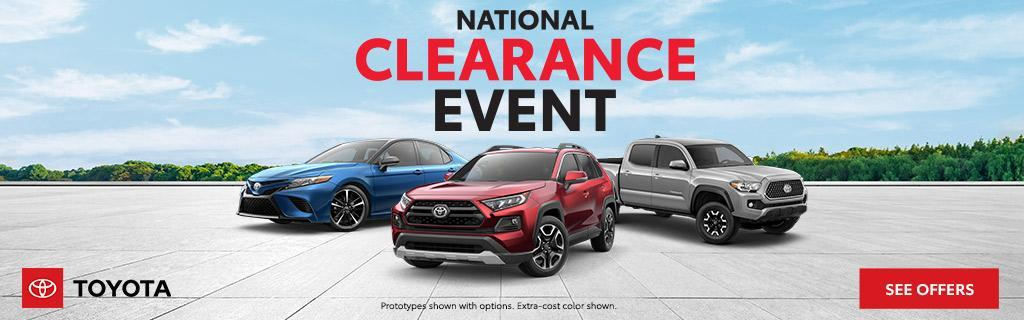 Toyota National Clearance Offers