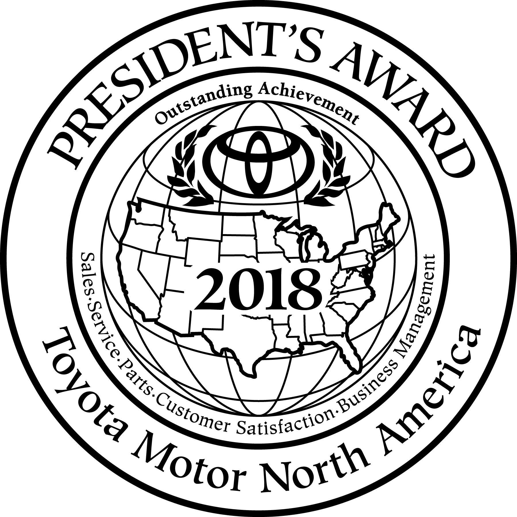 Hometown Toyota 2018 President's Award Winner