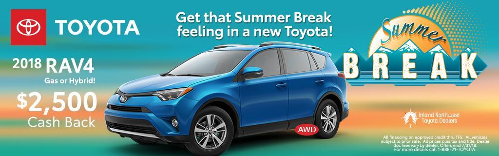 2018 Toyota RAV4 Cash Back
