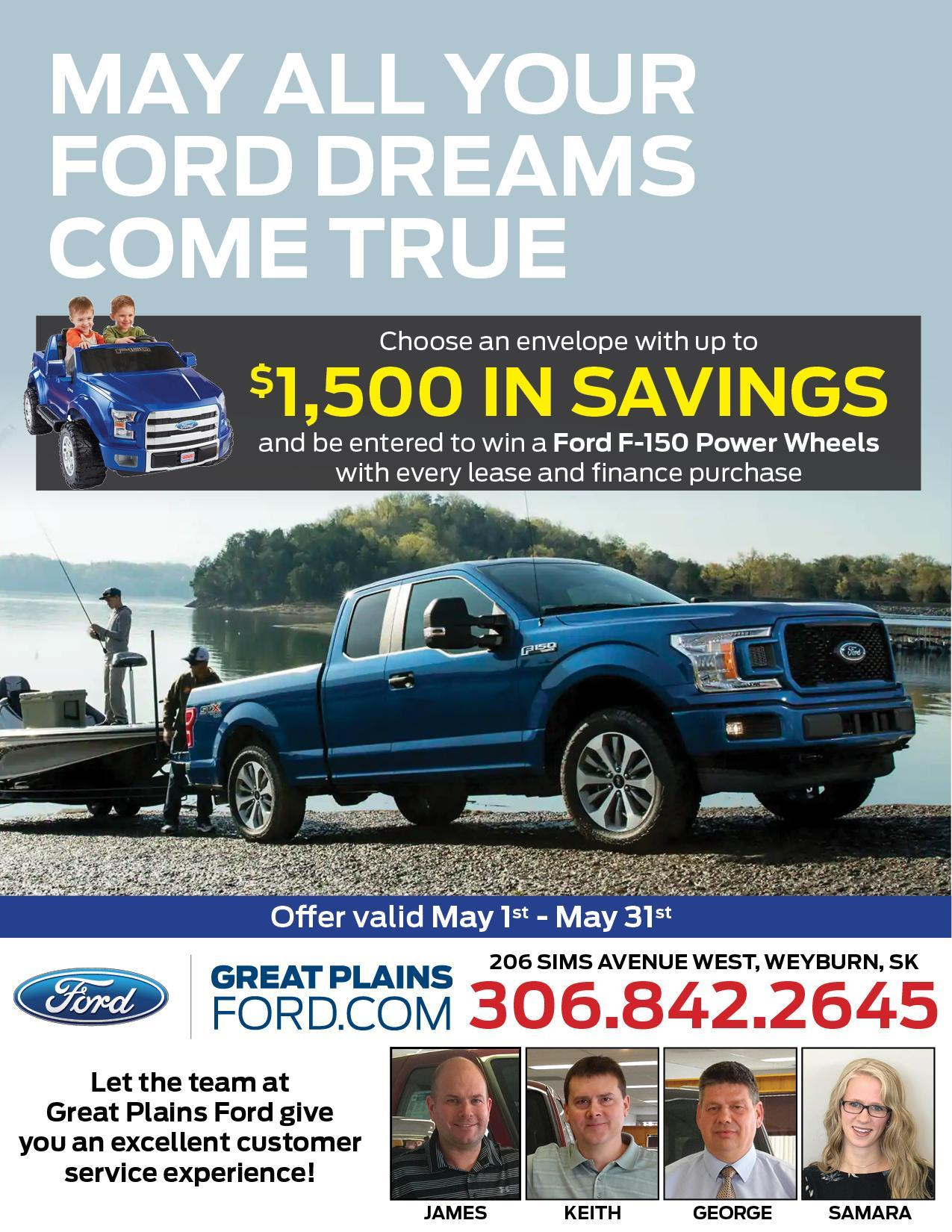 May your Ford dreams come true