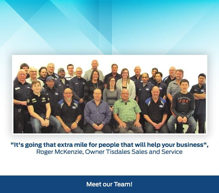 Tisdales Sales and Service Team