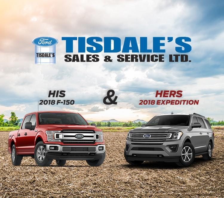 His 2018 F-150 & Hers 2018 Expedition Tisdales Sales and Service Kindersley